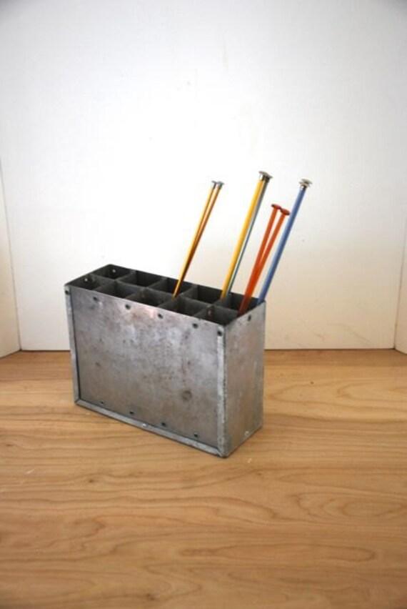 Industrial Metal Desk Organizer Pencil Holder Supply Caddy