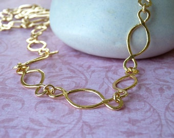 Handmade Gold Chain Necklace - 18K Plate - Necklace Gift | Handcrafted Jewelry