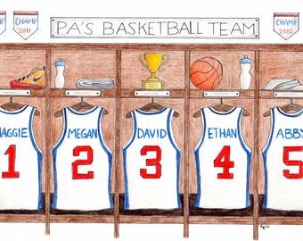 Custom Cartoon Sports Jersey Drawing