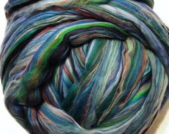 Merino Multicolor Roving, Wool Roving, Merino Roving, Merino Wool Roving for Spinning or Felting, Ashland Bay Fibers,  8 oz  - Bermuda