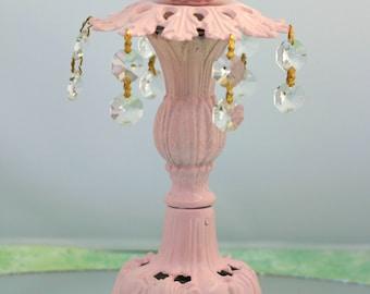 Shabby Chic Candleholder Vintage Upcycled