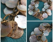 Mother of Pearl Coin Bracelet
