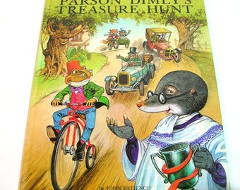Parson Dimly's Treasure Hunt Written And Illustrated By John Patience Vintage Book