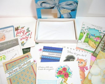 Box Of Vintage Greeting Cards