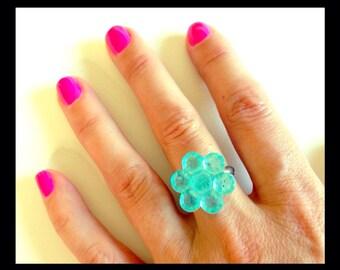 Glinda vintage button ring