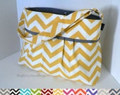 items similar to the monterey diaper bag medium custom design your own in chevron. Black Bedroom Furniture Sets. Home Design Ideas