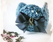 Bracelet, Crochet Cuff, Doilies, Crochet Jewelry, Adjustable, Teal Blue