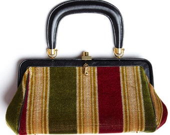 Vintage Striped Carpet Bag