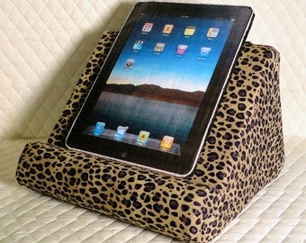iPad Lap Reading Stand  /  Padded Book Stand For Your Lap / Soft Lap Reading Stand / Lap Desk