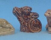 Wade Whimsies Jaguar Monkey Otter 3 Figurines