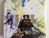 Darth Vader Storm Trooper Star Wars Decorative Double Light Switch Plate Cover