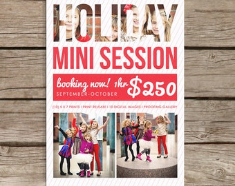 Modern Holiday Promo Marketing Board Template - Instant download