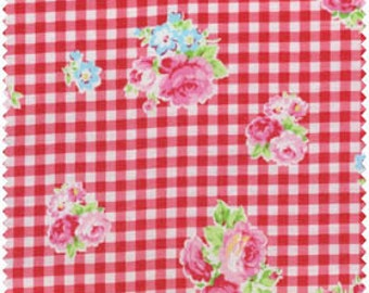 Flower Sugar 2013 by Lecien  Red  Gingham Rose 30748-30 Cotton Fabric