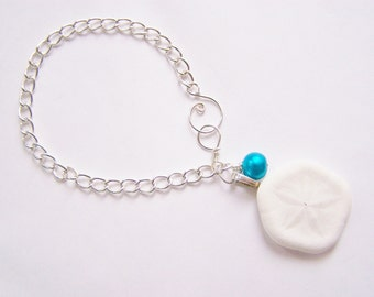 Sand Dollar Bracelet - Sea Biscuit - beach weddings - bridesmaid gifts - resort wear - gift for her - affordable treasures - one of a kind