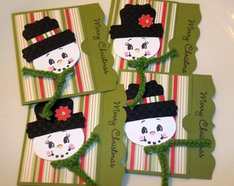 Snowpeople gift card holder