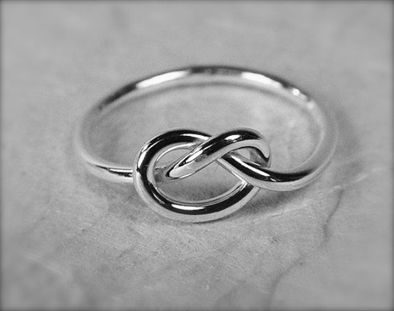Promise Ring / Sterling Silver Love Knot Ring / Tie The Knot Ring / Memory Ring / Infinity Ring