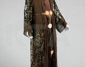 Original Paul Poiret Museum Piece 1920s Silk Dinner gown with lame and ribbonwork Label included