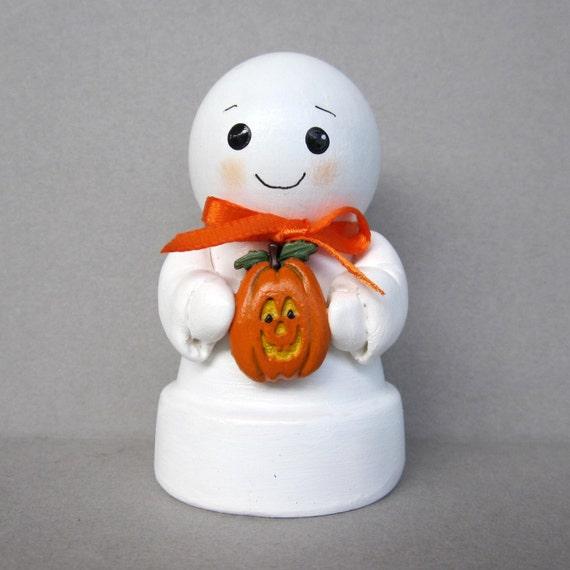 Halloween Ghost Flowerpot Bell Ornament