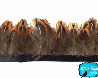Feather Fringe, 1 Yard - Pointed RIngneck Pheasant Plumage Feather Trim : 3223