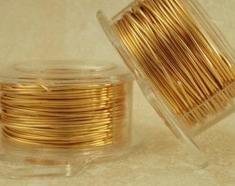 Gold Colored Wire - Non Tarnish - You Pick Gauge 14, 16, 18, 20, 21, 22, 24, 26, 28, 30, 32 or 34 - 100% Guarantee