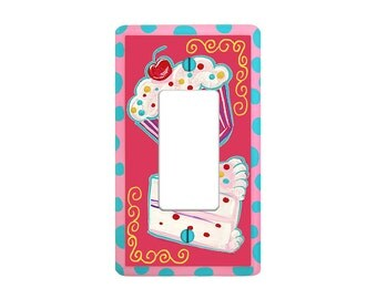 Sugar and Spice CUPCAKE Toggle Switch Cover