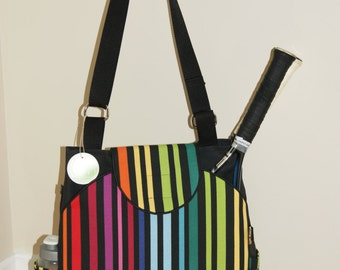 Large Tennis Bag with rounded pockets- Made to Order.