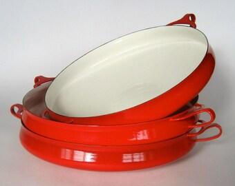 One Dansk  RED Paella Pan
