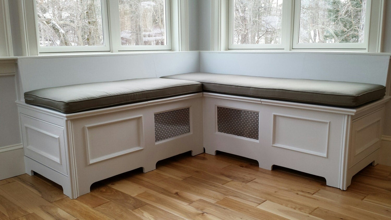Custom Window Seat Cushion Bench With Cording