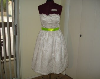Satin and Lace  wedding dress made to order