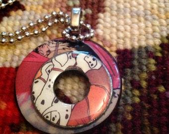 Disney's 101 Dalmatians Cruella de Ville Altered Art Washer Necklace