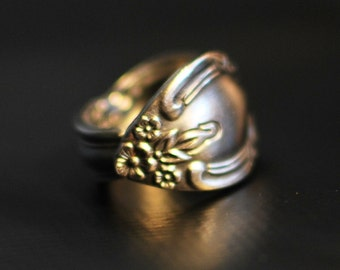 Victorian Spoon Ring, Stainless Steel, Nearly Any Size, Custom Stamping or Engraving Available