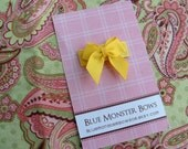 ONE DOLLAR CLIP Yellow Mini Baby Bow Snap Clip Free Shipping On Additional Items