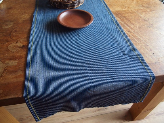 Merveilleux ... Handmade Blue Blue Striped Runner Indigo Table White Table Japanese  Runner Dark Japanese Pin ...