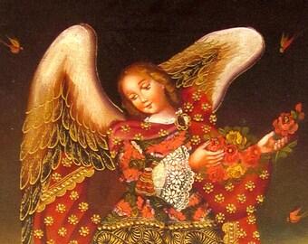 Religious Oil Painting Cusco Art Guardian Angel Canvas Art