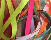 DESTASH : 10 yds 3/8 Solid Grosgrain Ribbon