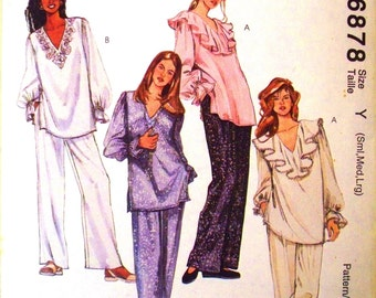 easy mccalls pattern 6878 - misses tops and pants - (1994) - UNCUT