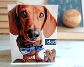 Fathers Day Dachshund Card - Simply Stated Retro Bowtie