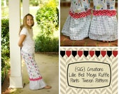 INSTANT Download SIG Lillie Bell Mega Ruffle Pants Pattern eBook - Sizes 6 to 12 TWEEN
