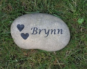 Personalized Pet Memorial Garden Stone Grave Marker 7-8 Inches Memorial Gravestone