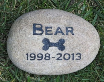 Personalized Memorials for Pet Dog Grave Marker Headstone Memorial Stone Headstone Grave Marker 6-7 Inch