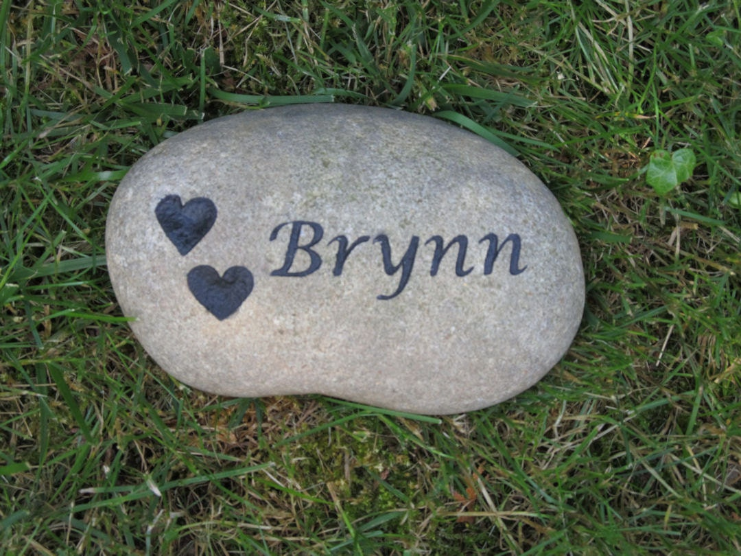 personalized pet memorial garden stone grave marker 7 8 inches