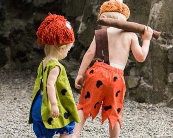 Flinstone Costume, Bam Bam & Pebbles Costume, halloween Costume, Dress up, Costume, halloween, Bam Bam, Pebbles
