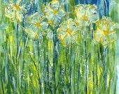 Abstract Daisies - Art Print
