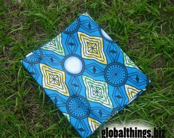 West African Wax Cotton Print Fabric - African Vlisco Fabric - Ankara Fabric - Tetsubishi - Fat Quarter