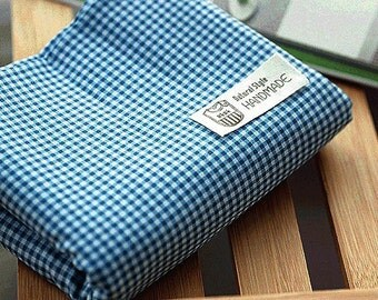 Lovely Murky Blue check Cotton, U7219
