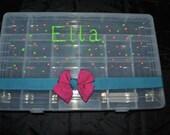 Personalized Rainbow Loom Storage Organizer Box