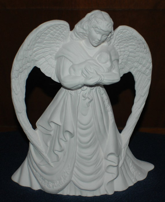 Ready to Paint Angel with Baby Statue