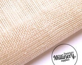 Sinamay Fabric Ivory (1/2 yard) for Millinery, Fascinators & Hat Making