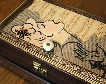 Leather Mele Jewelry Box