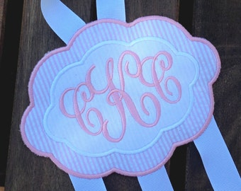 Monogrammed TRIPLE Hair Bow Holder - Perfect Girl's Birthday Gift - You choose the colors